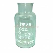 Dekor üveg váza -kék
