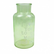 Dekor üveg váza - zöld