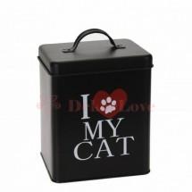 Macskatáp tároló doboz