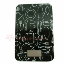 Digitális konyhai mérleg - fekete
