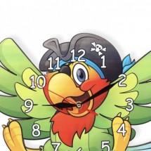 Gyerek Falióra - Kalóz Papagáj