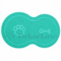 Kutya -macska Etető szőnyeg kék