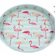 Flamingós fém tálca